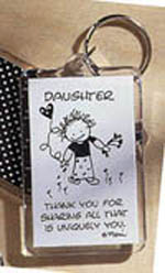 Daughter Keychain
