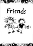 Friends Girl - Girl Greeting Card