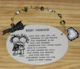 Best Friends Ceramic Wall Plaque With Beads