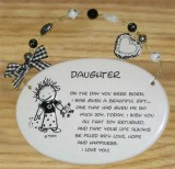 Daughter Ceramic  Plaque