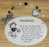Daughter Ceramic Wall Plaque With Beads