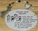Follow Your Dreams Ceramic Wall Plaque With Beads