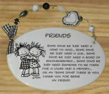 Friends Ceramic Wall Plaque With Beads