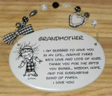 Grandmother Ceramic Plaque