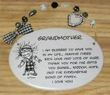 Grandmother Ceramic Wall Plaque With Beads