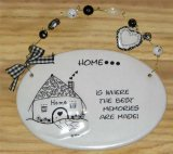 Home Ceramic Wall Plaque With Beads