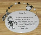 Nurse Ceramic Wall Plaque With Beads