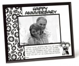 *Happy Anniversary Glass Frame