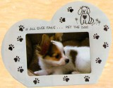 **Heart Shape Dog Frame