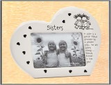 **Sisters Heart Shaped Frame