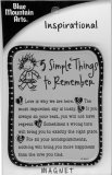 5 Simple Things To Remember Inspirational Magnet