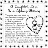 A Daughter's Love Is A Lifelong Blessing 5 X 5 Mini Print with Envelope