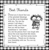 Best Friends 5 X 5 Mini Print with Envelope