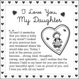 I Love You My Daughter 5 X 5 Mini Print with Envelope