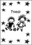 Friends Boy - Girl Greeting Card