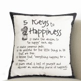 5 Keys To Happiness Pillow 16 X 16