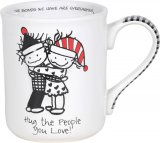 Hug The People You Love Christmas Mug