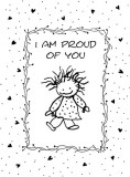 I Am Proud of You Girl Greeting Card
