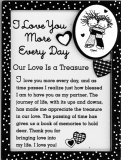 I Love You More Every Day Easel Plaque
