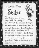 I Love You Sister Magnet