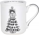 Joy Love Hope Peace Believe Christmas Mug