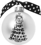 Joy Love Hope Tree Ornament