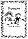 Mother- Daughter to Daughter Greeting Card