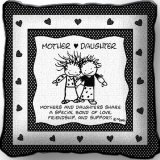 Tapestry Mother Daughter Pillow 14x14