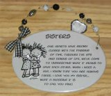 Sisters Ceramic Wall Plaque With Beads
