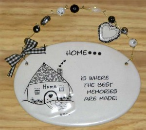 Home Ceramic Plaque