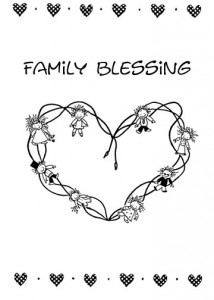 Family Blessing Greeting Card