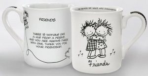 Friends Hugging Girl-Girl Mug