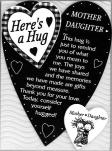 Easel Plaques > Here's a Hug Mother Daughter Easel Plaque