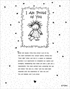 I Am Proud of You Print